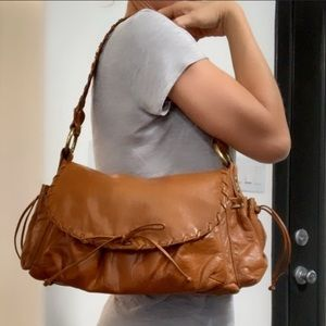 Authentic Kooba tan leather handbag purse